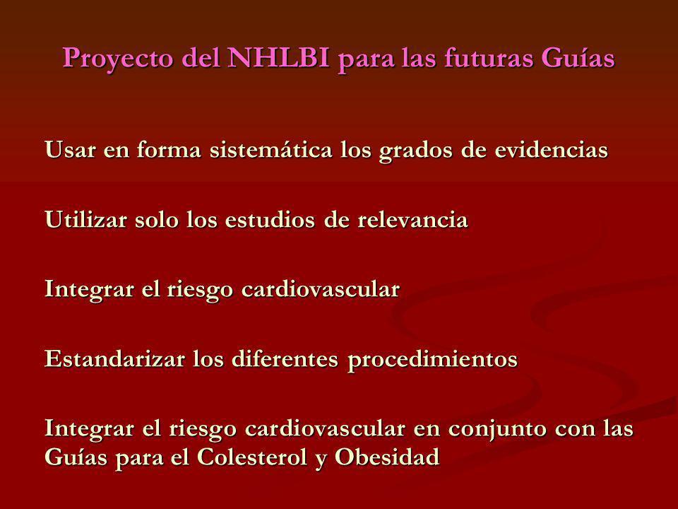 Proyecto del NHLBI para las futuras Guías