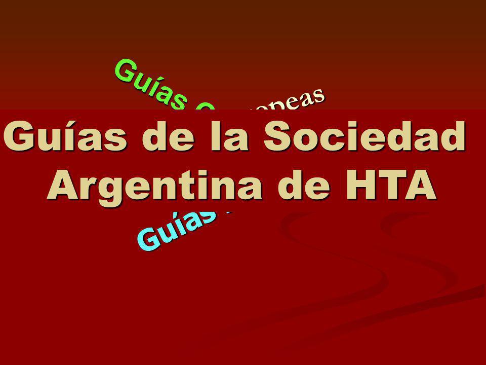 Guías de la Sociedad Argentina de HTA
