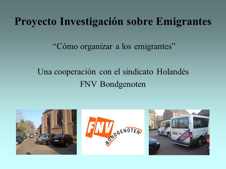 Proyecto Investigación sobre Emigrantes