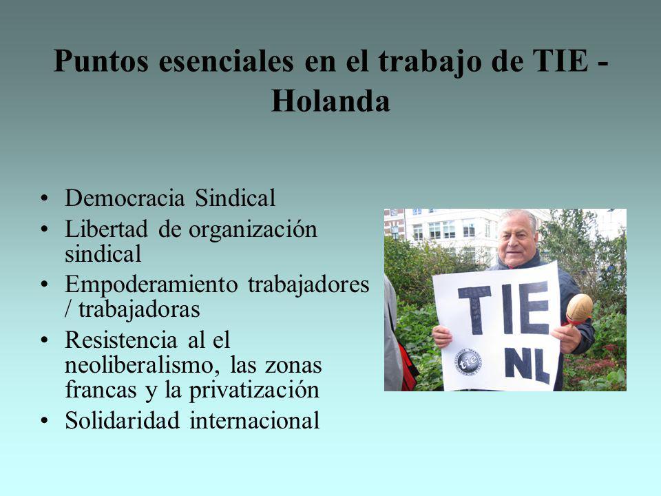 Puntos esenciales en el trabajo de TIE -Holanda