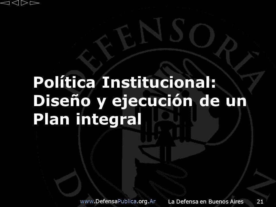 Política Institucional: Diseño y ejecución de un Plan integral