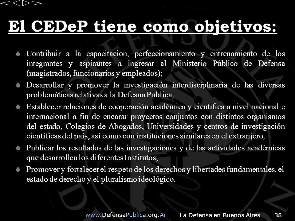 El CEDeP tiene como objetivos: