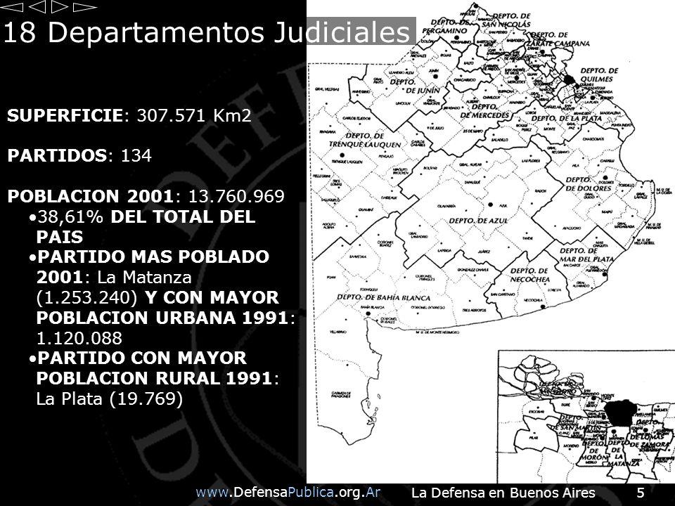 18 Departamentos Judiciales