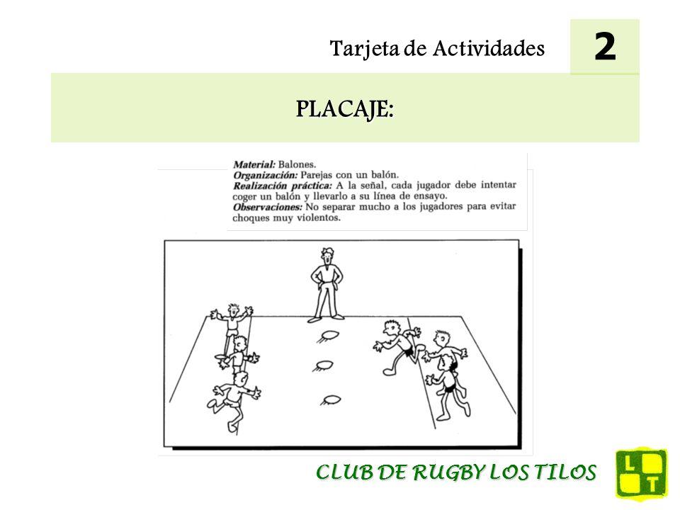 2 Tarjeta de Actividades PLACAJE: CLUB DE RUGBY LOS TILOS
