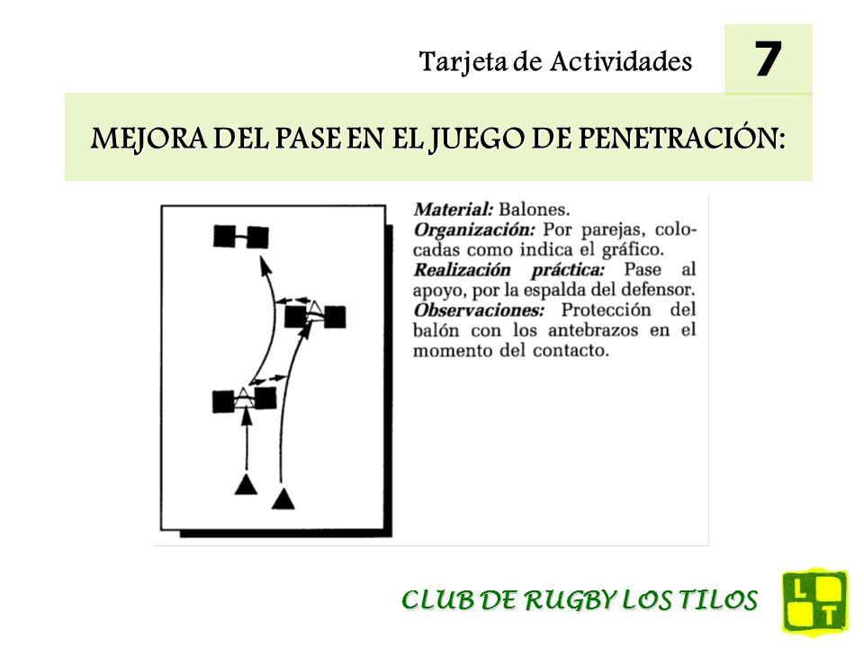 MEJORA DEL PASE EN EL JUEGO DE PENETRACIÓN: