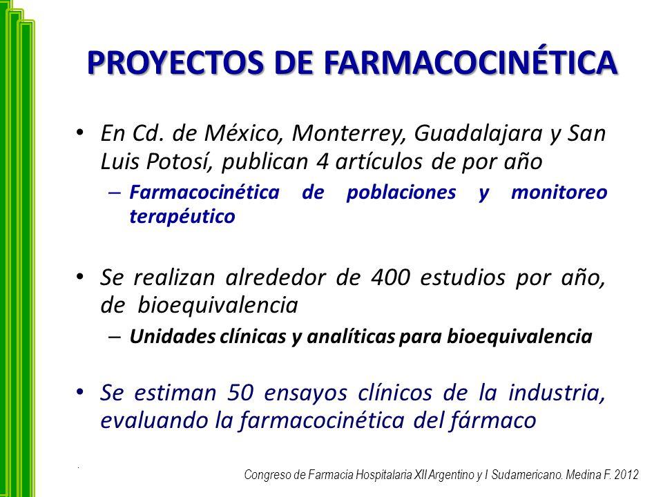 PROYECTOS DE FARMACOCINÉTICA