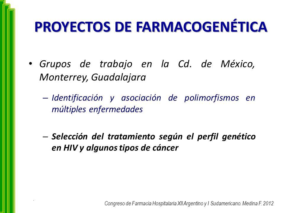 PROYECTOS DE FARMACOGENÉTICA