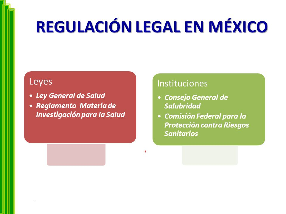 REGULACIÓN LEGAL EN MÉXICO