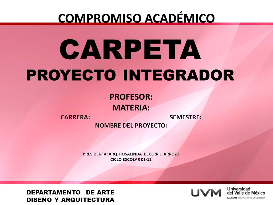 PRESIDENTA: ARQ. ROSALINDA BECERRIL ARROYO