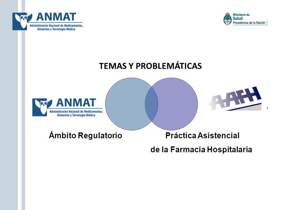 TEMAS Y PROBLEMÁTICAS Ámbito Regulatorio Práctica Asistencial