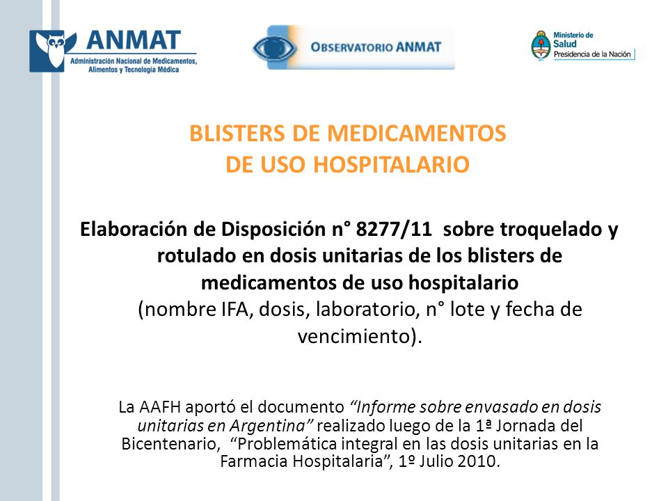 BLISTERS DE MEDICAMENTOS