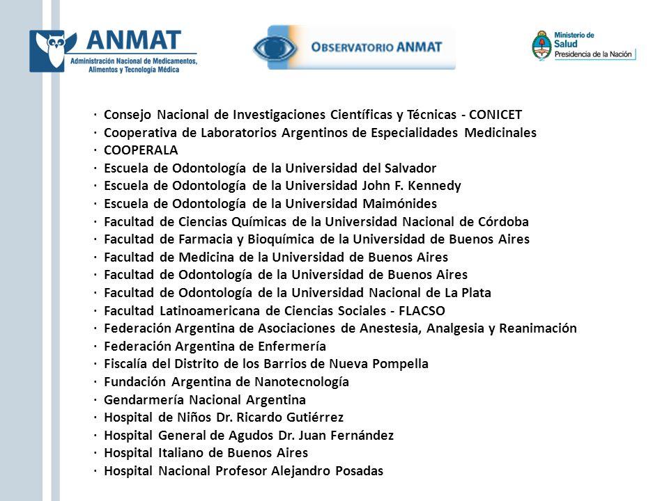 · Consejo Nacional de Investigaciones Científicas y Técnicas - CONICET