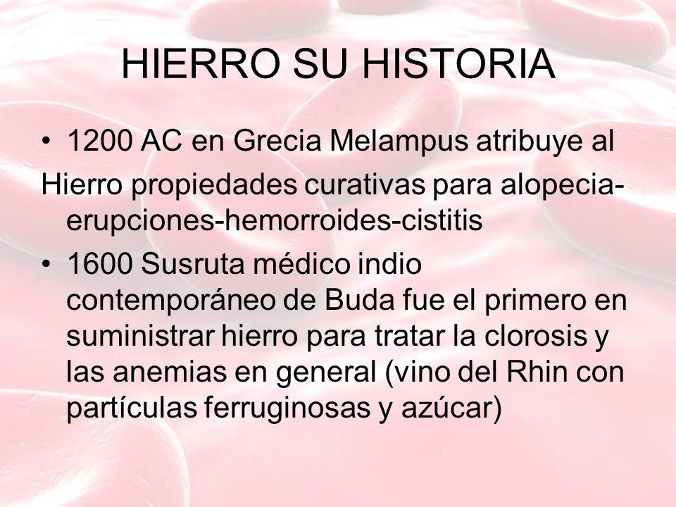HIERRO SU HISTORIA 1200 AC en Grecia Melampus atribuye al