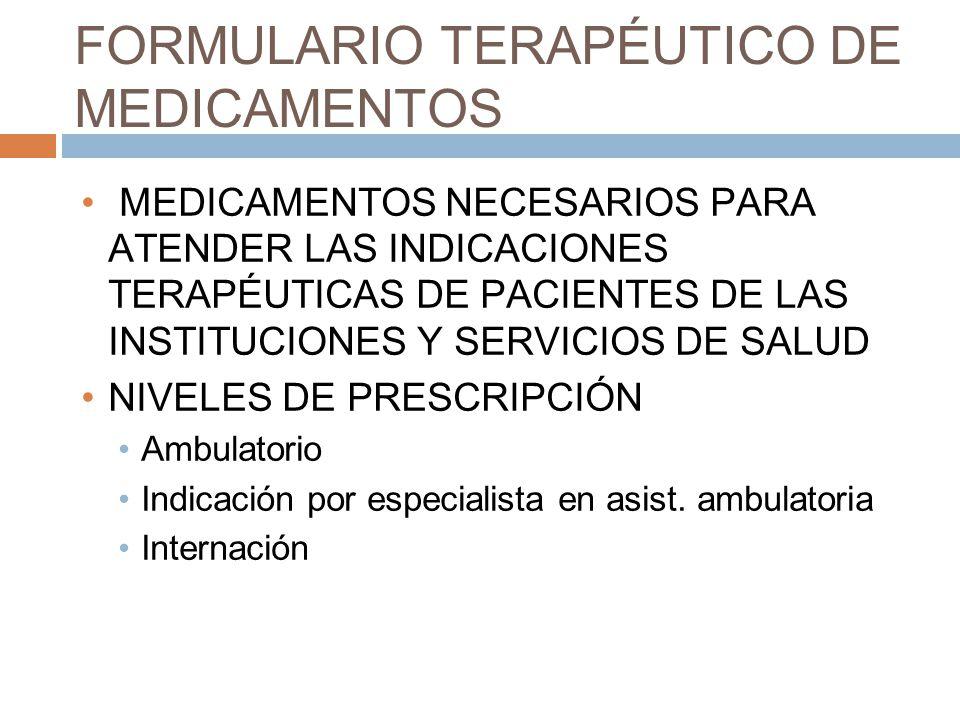 FORMULARIO TERAPÉUTICO DE MEDICAMENTOS