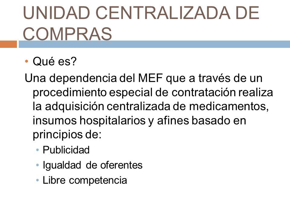 UNIDAD CENTRALIZADA DE COMPRAS
