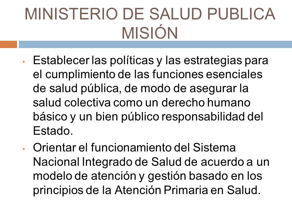 MINISTERIO DE SALUD PUBLICA MISIÓN