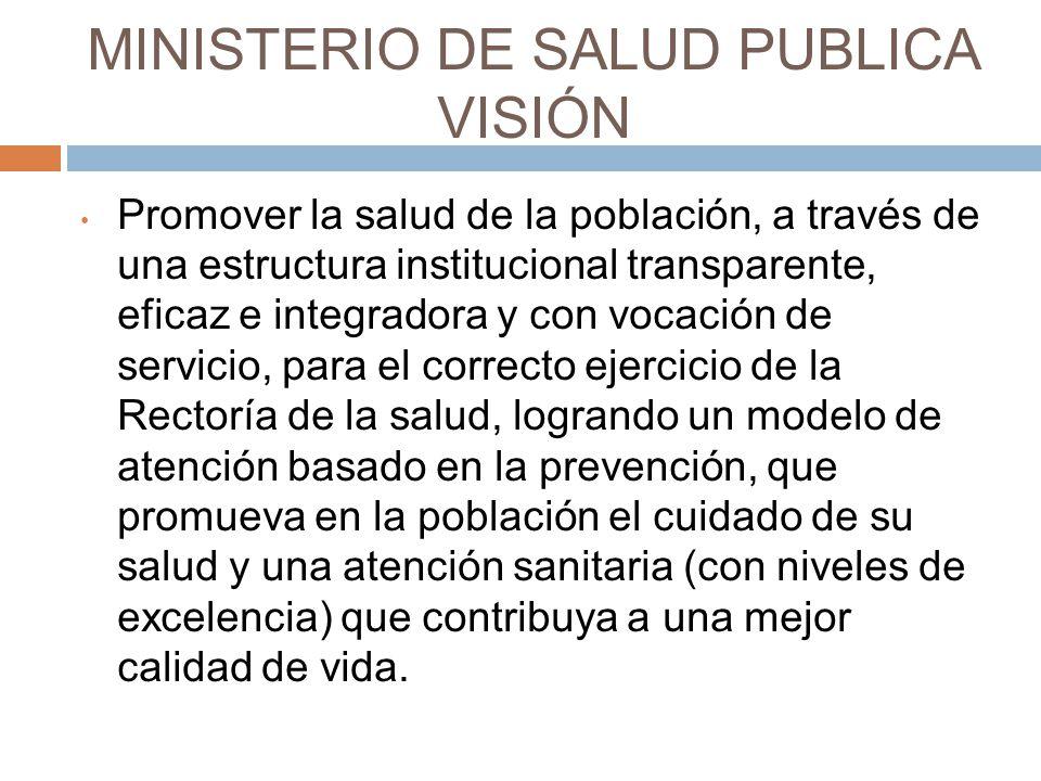 MINISTERIO DE SALUD PUBLICA VISIÓN