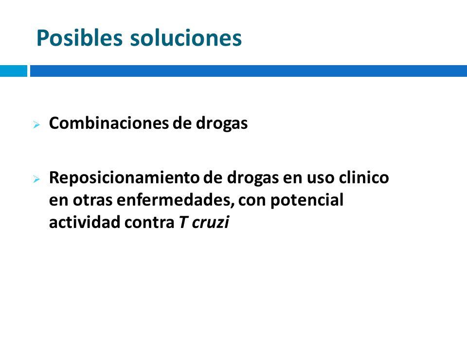 Posibles soluciones Combinaciones de drogas
