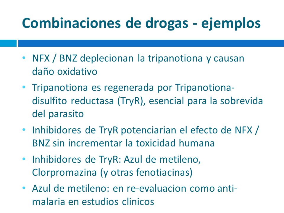 Combinaciones de drogas - ejemplos