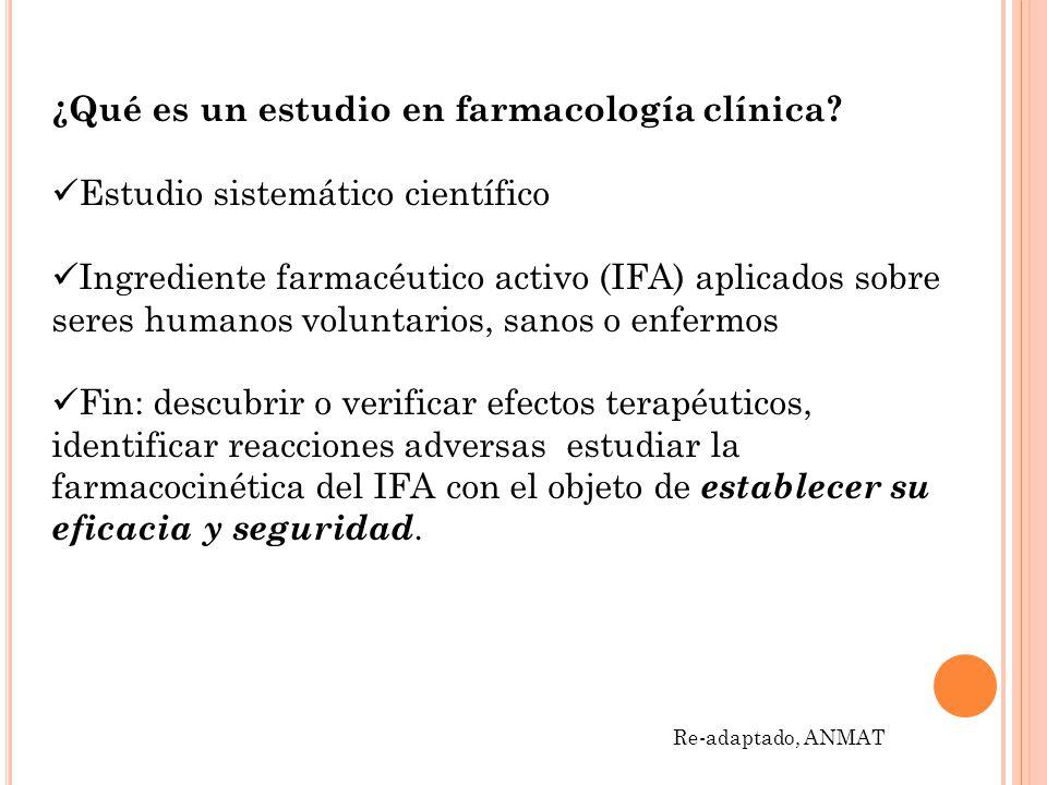 ¿Qué es un estudio en farmacología clínica