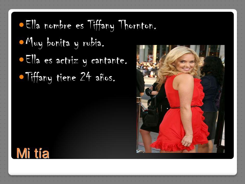 Ella nombre es Tiffany Thornton.