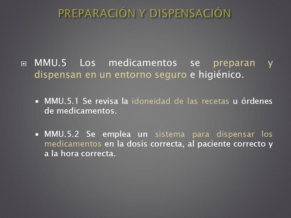 PREPARACIÓN Y DISPENSACIÓN