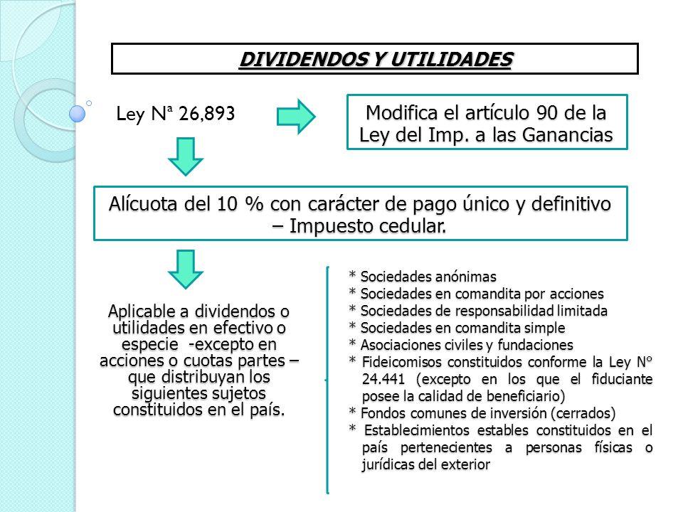 DIVIDENDOS Y UTILIDADES