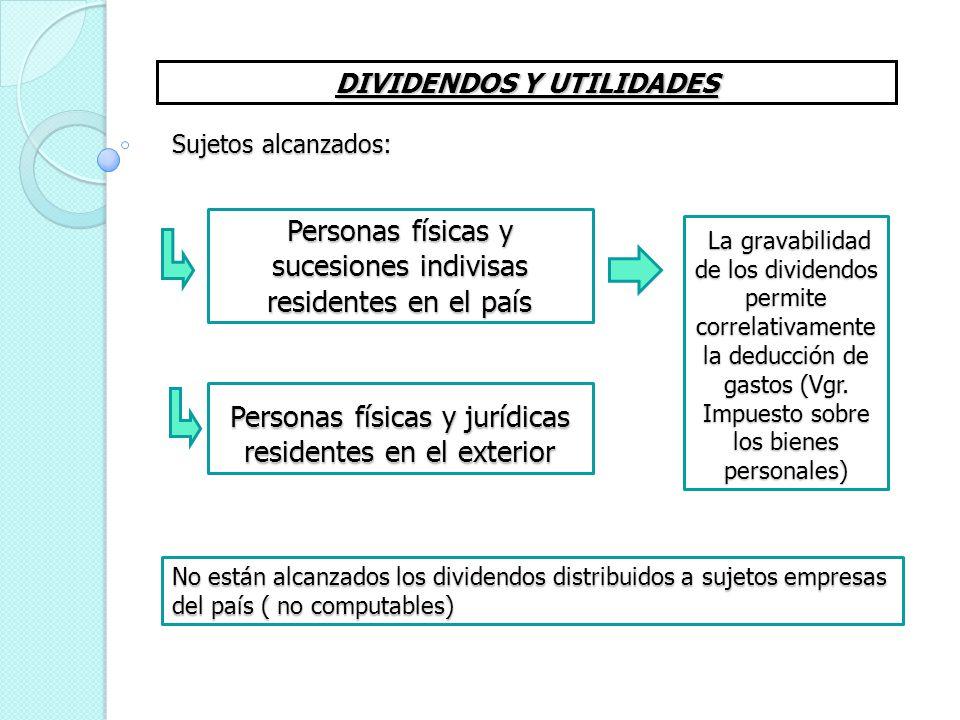 Personas físicas y sucesiones indivisas residentes en el país