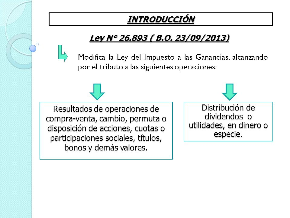 Distribución de dividendos o utilidades, en dinero o especie.
