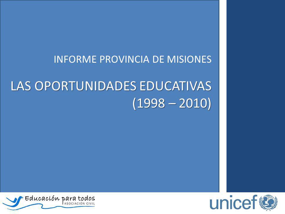 LAS OPORTUNIDADES EDUCATIVAS (1998 – 2010)