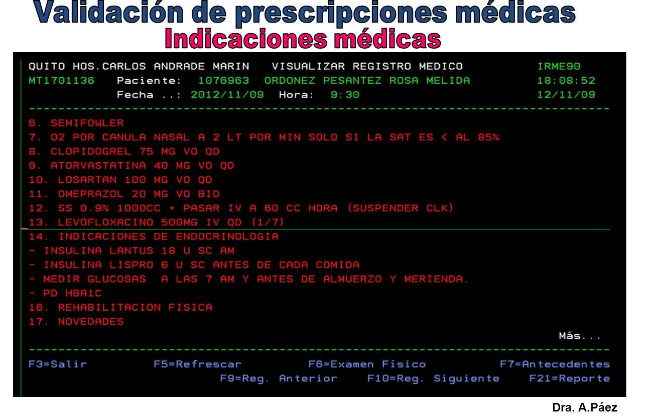 Validación de prescripciones médicas