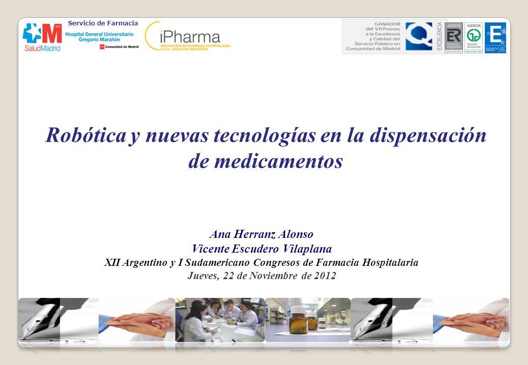 Robótica y nuevas tecnologías en la dispensación de medicamentos