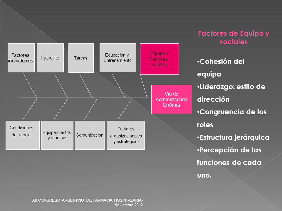 Factores de Equipo y sociales