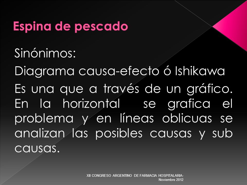 Diagrama causa-efecto ó Ishikawa