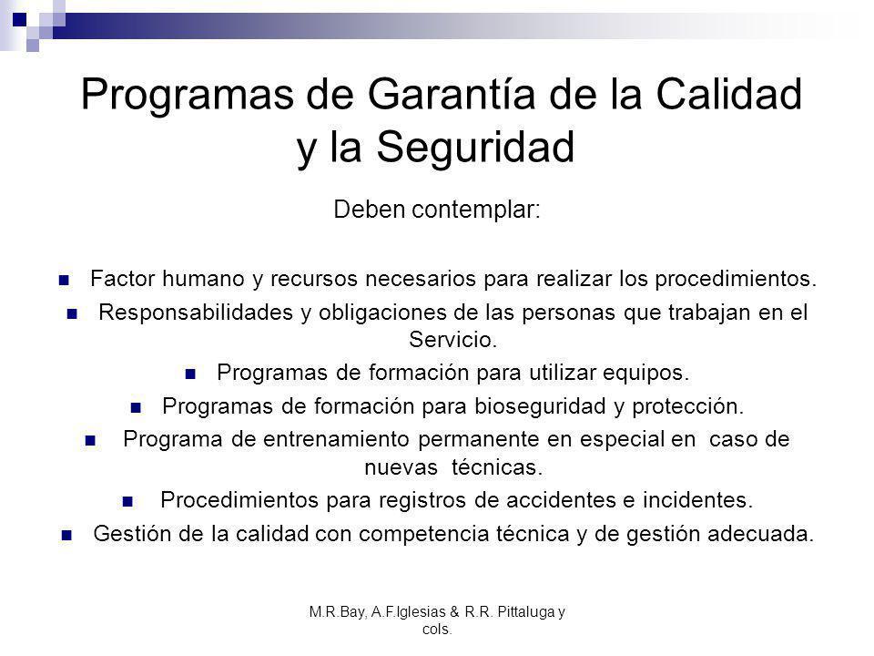Programas de Garantía de la Calidad y la Seguridad