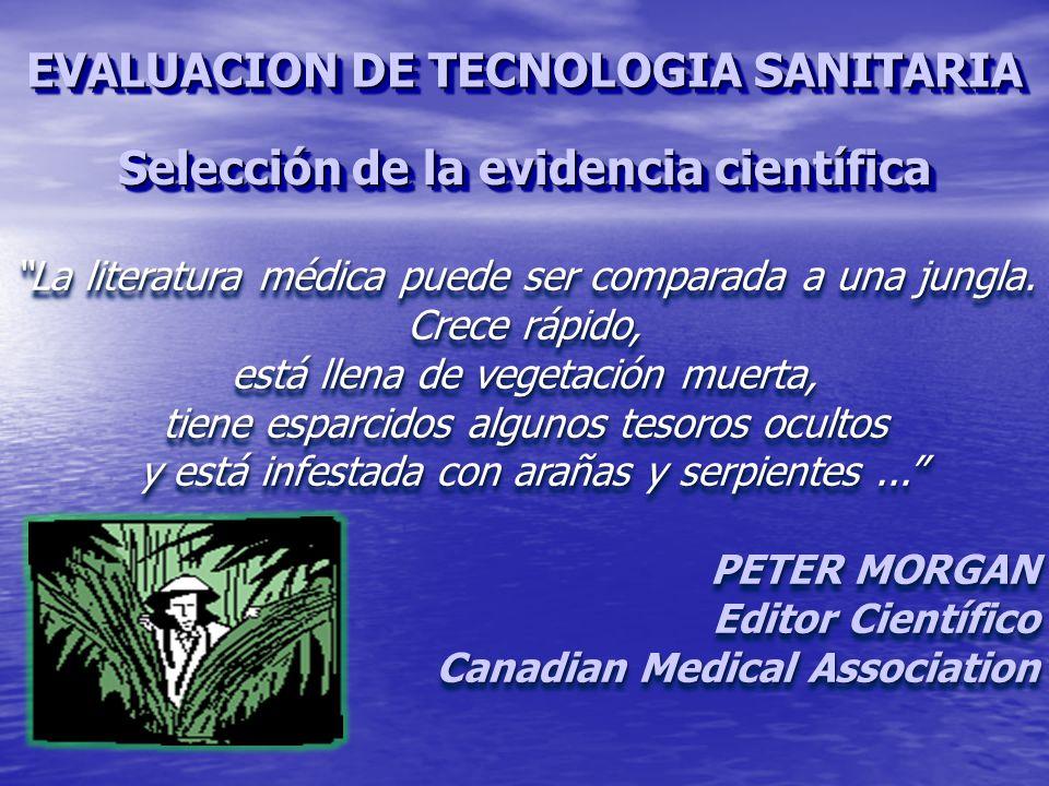Selección de la evidencia científica