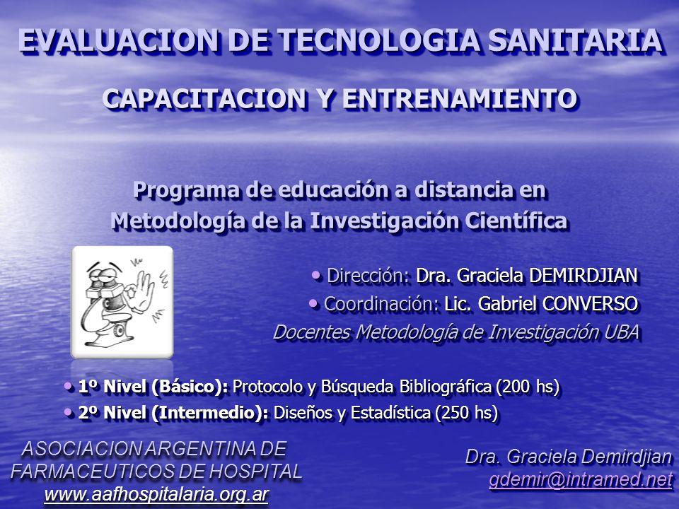 EVALUACION DE TECNOLOGIA SANITARIA