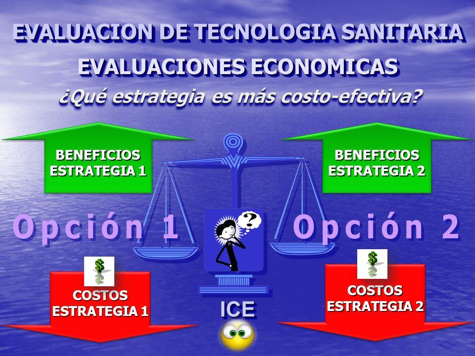 EVALUACIONES ECONOMICAS ¿Qué estrategia es más costo-efectiva
