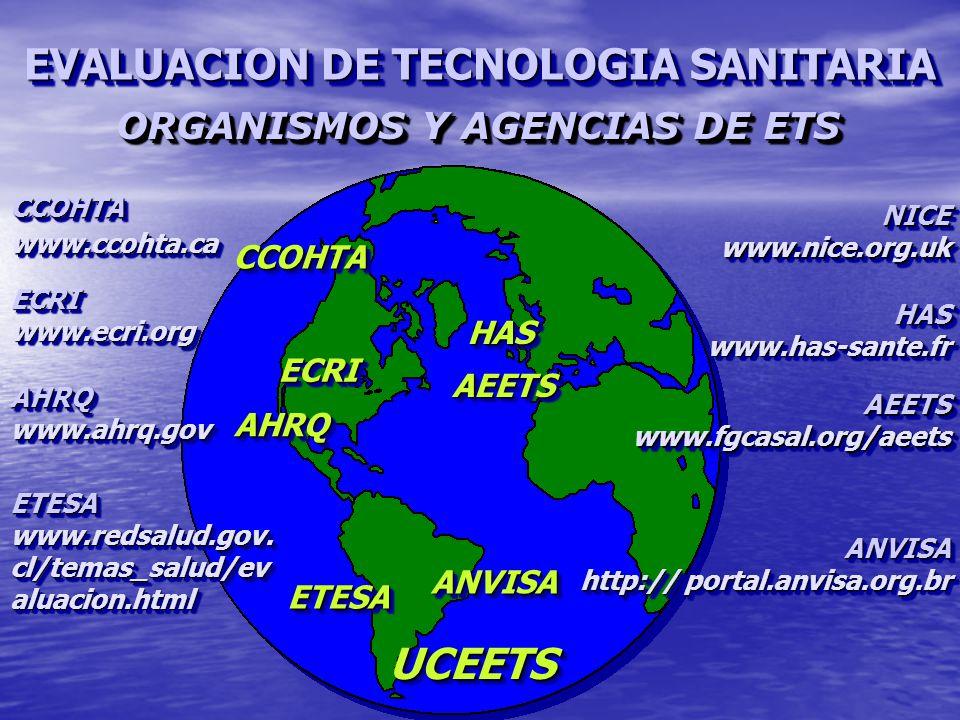ORGANISMOS Y AGENCIAS DE ETS
