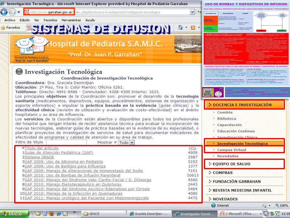 SISTEMAS DE DIFUSION