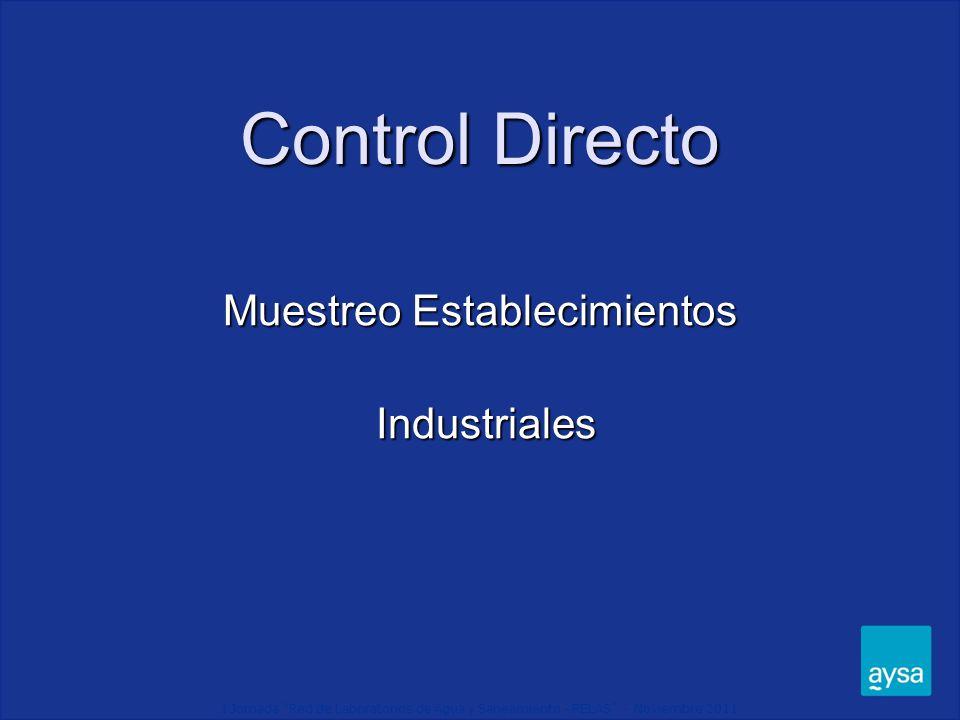 Muestreo Establecimientos Industriales