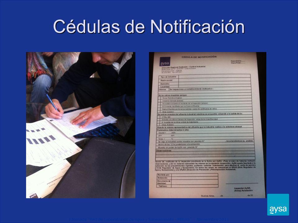 Cédulas de Notificación