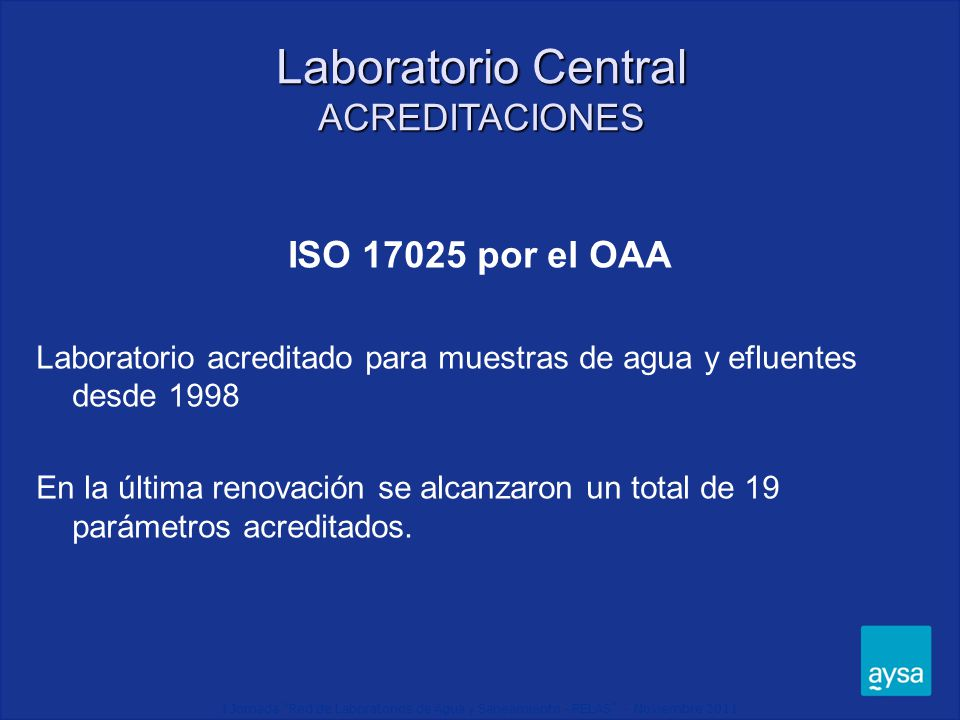 Laboratorio Central ACREDITACIONES