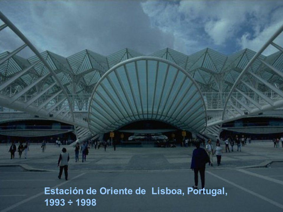 Estación de Oriente de Lisboa, Portugal, 1993 ÷ 1998