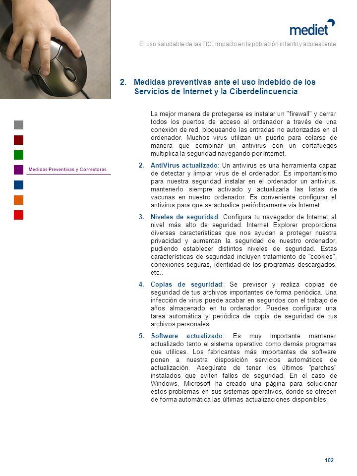 Medidas preventivas ante el uso indebido de los Servicios de Internet y la Ciberdelincuencia