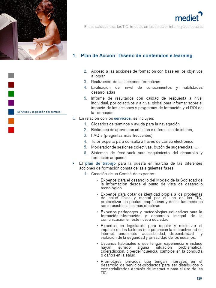 Plan de Acción: Diseño de contenidos e-learning.