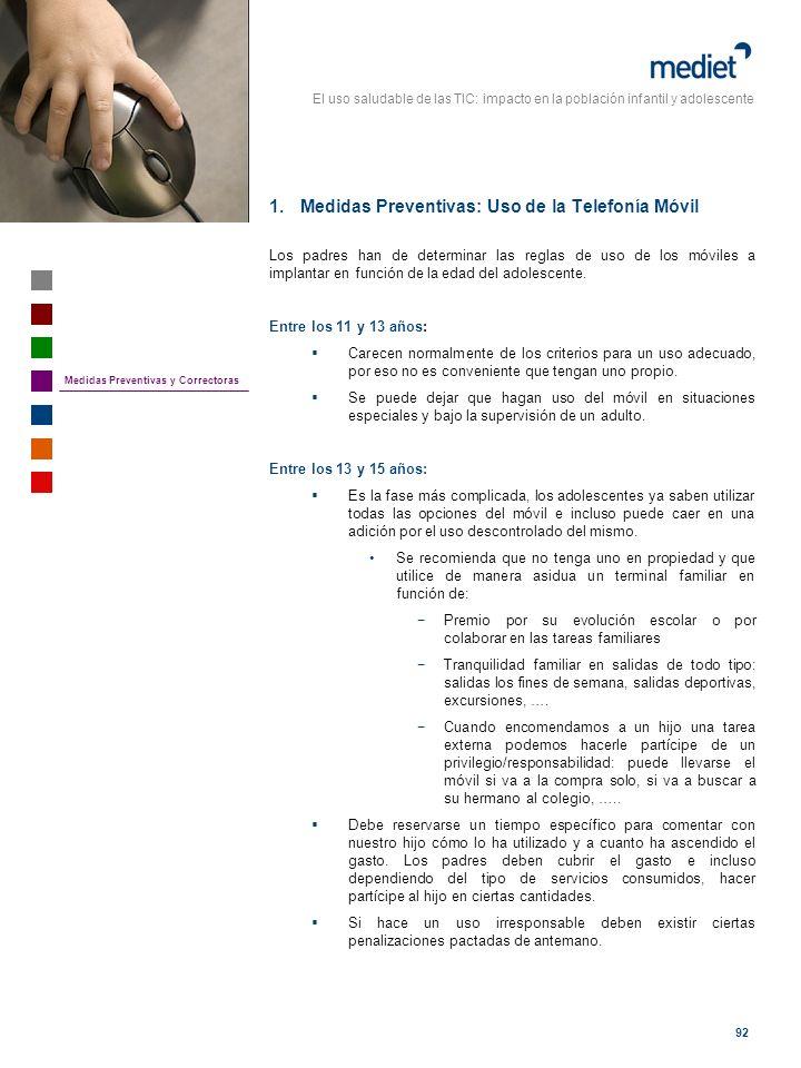 Medidas Preventivas: Uso de la Telefonía Móvil