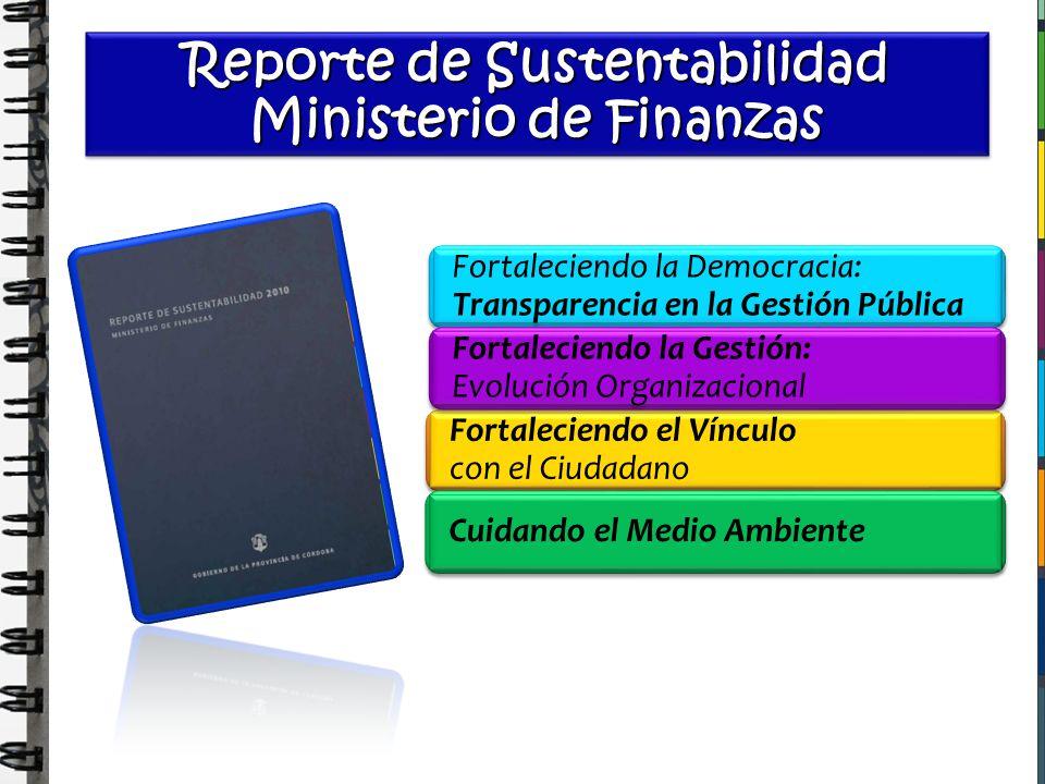 Reporte de Sustentabilidad Ministerio de Finanzas