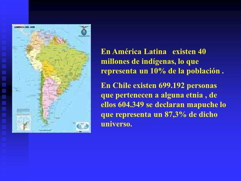 En América Latina existen 40 millones de indígenas, lo que representa un 10% de la población .