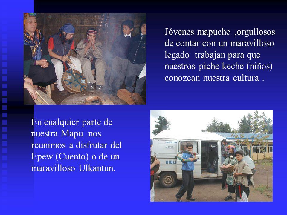 Jóvenes mapuche ,orgullosos de contar con un maravilloso legado trabajan para que nuestros piche keche (niños) conozcan nuestra cultura .